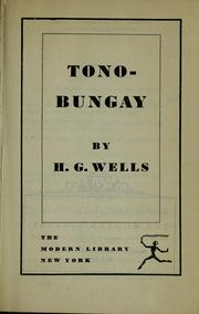 Cover of: Tono-Bungay by H. G. Wells