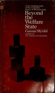 Beyond the welfare state by Gunnar Myrdal