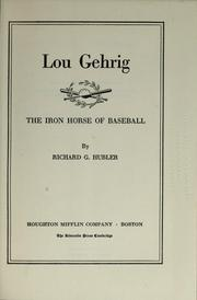 Lou Gehrig by Richard Gibson Hubler