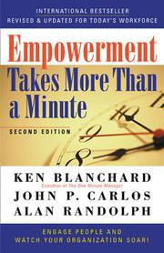 Cover of: Empowerment Takes More than a Minute by Blanchard Family Partnership