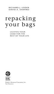 Cover of: Repacking Your Bags by Richard J. Leider