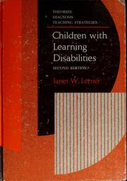 Children with learning disabilities by Janet W. Lerner