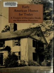 Early American homes for today
