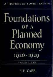 Foundations of a planned economy, 1926-1929 by Carr, Edward Hallett