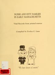Cover of: Nurse family in early Massachusetts by Evelyn C. Lane