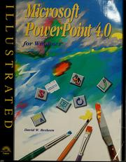 Microsoft PowerPoint 4.0 for Windows illustrated by David W. Beskeen