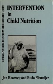 Intervention in child nutrition by Jan Hoorweg