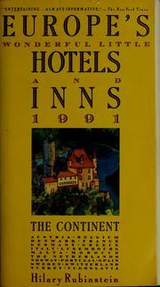 Europe's wonderful little hotels & inns, 1991 PDF