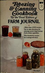 Freezing & canning cookbook