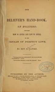 The believer's hand-book PDF