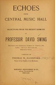 Echoes from Central Music Hall PDF
