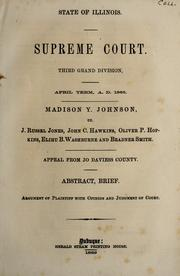 Madison Y. Johnson vs. J. Russel Jones, John C. Hawkins, Oliver P. Hopkins, Elihu B. Washburne and Bradner Smith by Madison Y. Johnson