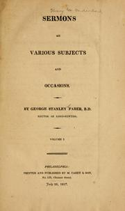 Sermons on various subjects and occasions PDF
