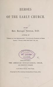 Heroes of the early church by Newton, Richard