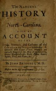 Cover of: The natural history of North-Carolina by John Brickell