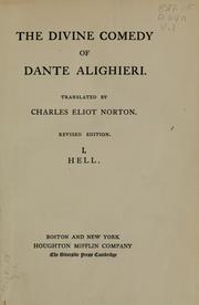 Cover of: The Divine comedy of Dante Alighieri by Dante Alighieri