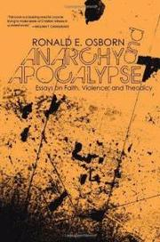 Anarchy and Apocalypse by Ronald E. Osborn