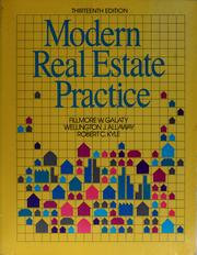 Modern real estate practice by Fillmore W. Galaty