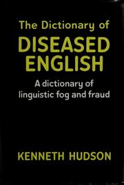 The dictionary of diseased English PDF