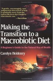Making the transition to a macrobiotic diet PDF