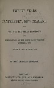 Twelve years in Canterbury, New Zealand PDF