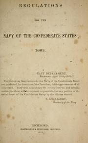 Regulations for the Navy of the Confederate States by Confederate States of America. Navy.