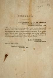 Cover of: Circular by Confederate States of America. War Dept.