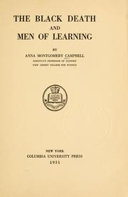 The black death and men of learning by Anna Montgomery Campbell