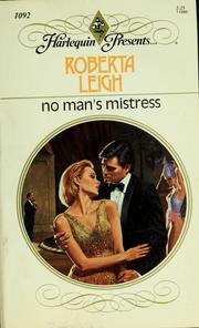 Cover of: No Man'S Mistress by Roberta Leigh