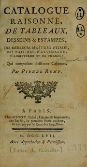 Catalogue raisonné, de tableaux, desseins & estampes, des meilleurs maîtres dItalie, des Pais-Bas, dAllemagne, dAngleterre et de France