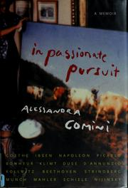 In passionate pursuit by Alessandra Comini