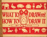 Cover of: What to draw and how to draw it by Edwin George Lutz