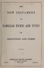 The New Testament, and Familiar hymns and tunes PDF
