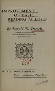 Improvement of basic reading abilities by Donald DeWitt Durrell