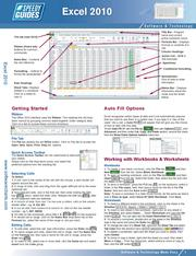 of: Microsoft Excel 2010 Laminated Quick Reference Guide, Cheat Sheet