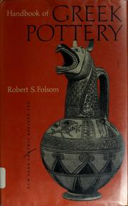 Handbook of Greek pottery by Robert Slade Folsom
