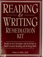 Cover of: Reading & writing remediation kit by Wilma H. Miller