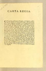 Carta Regia. Governadores do Reino de Portugal, e dos Algarves.= Amigos