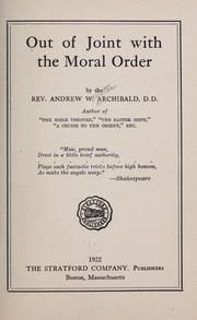 Out of joint with the moral order PDF
