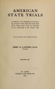 American state trials by John Davison Lawson