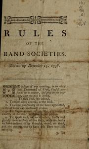 Rules of the band societies, drawn up December 25, 1738 PDF
