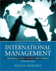 Cover of: International management by Helen Deresky