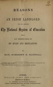 Reasons of an Irish landlord for not adopting the national system of education under any modification of its rules and regulations PDF