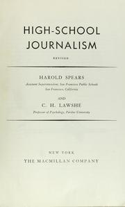 High-school journalism by Harold Spears