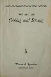 The art of cooking and serving PDF