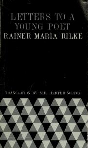 Cover of: Letters to a young poet by Rainer Maria Rilke