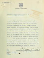 Report of I.A. Humphries, commissioner, appointed under the Public Enquiries Act, respecting the General Elections to the Legislative Assembly of the Province of Ontario, held on the 19th day of June, 1934
