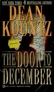 Cover of: The door to December | Dean Koontz