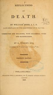 Reflections on death by Dodd, William