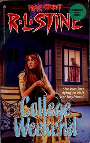 Cover of: College weekend by R. L. Stine